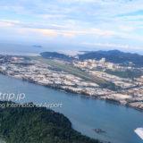 空の上から見るペナン国際空港