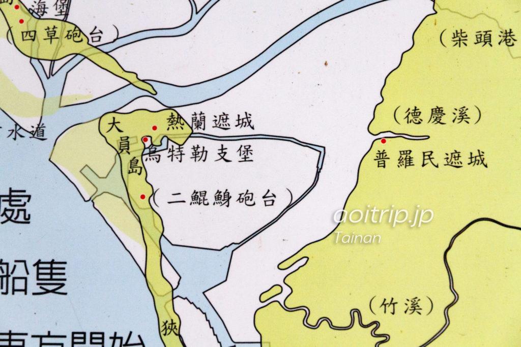 1652年の台南安平のマップ