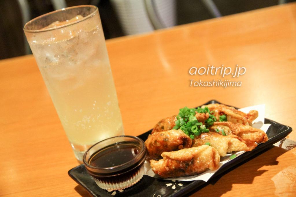 渡嘉敷島シーフレンドの鶏皮餃子