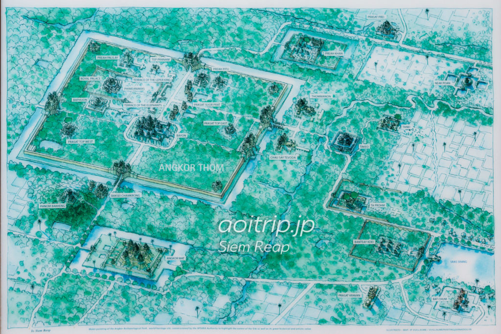 アンコール遺跡群の地図