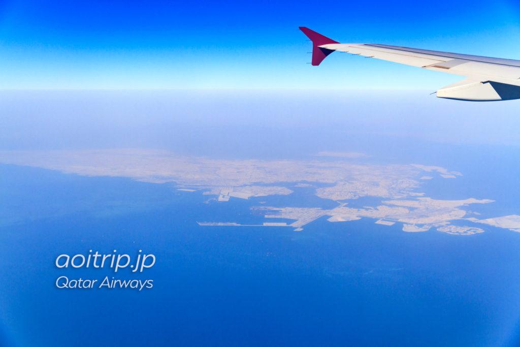 カタール航空機内から見るバーレーン