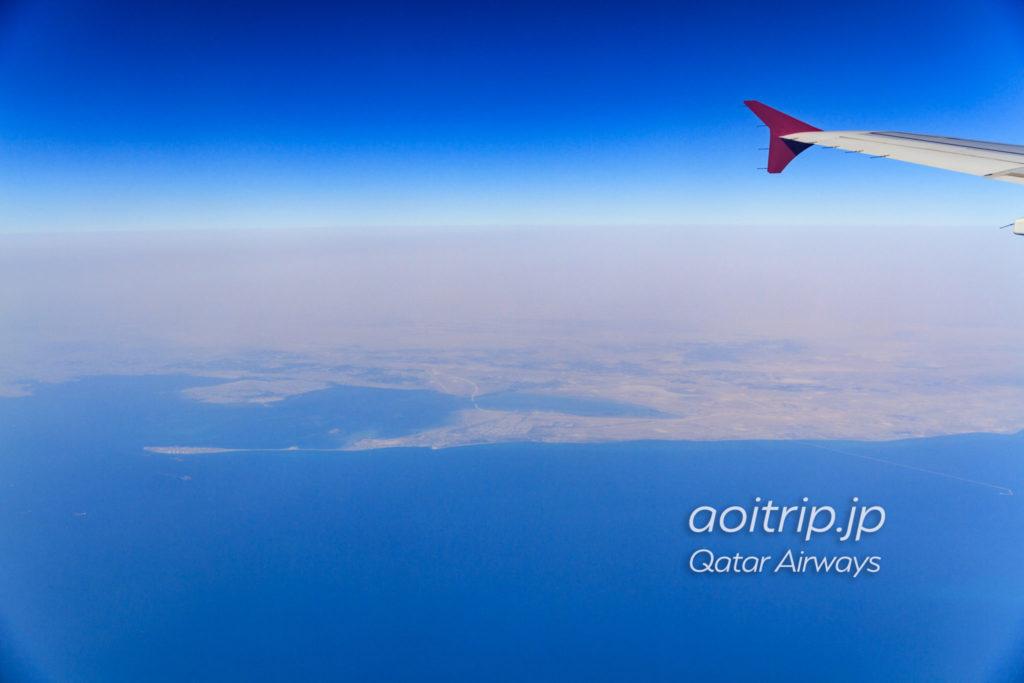 カタール航空機内から見るサウジアラビア