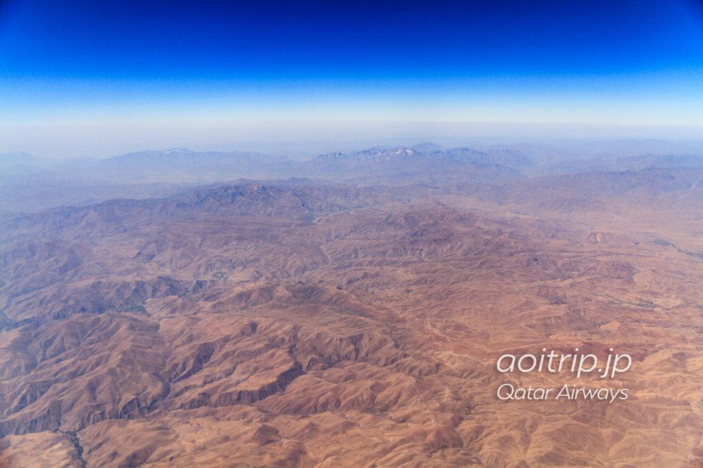 カタール航空機内から見るイラン・イラク