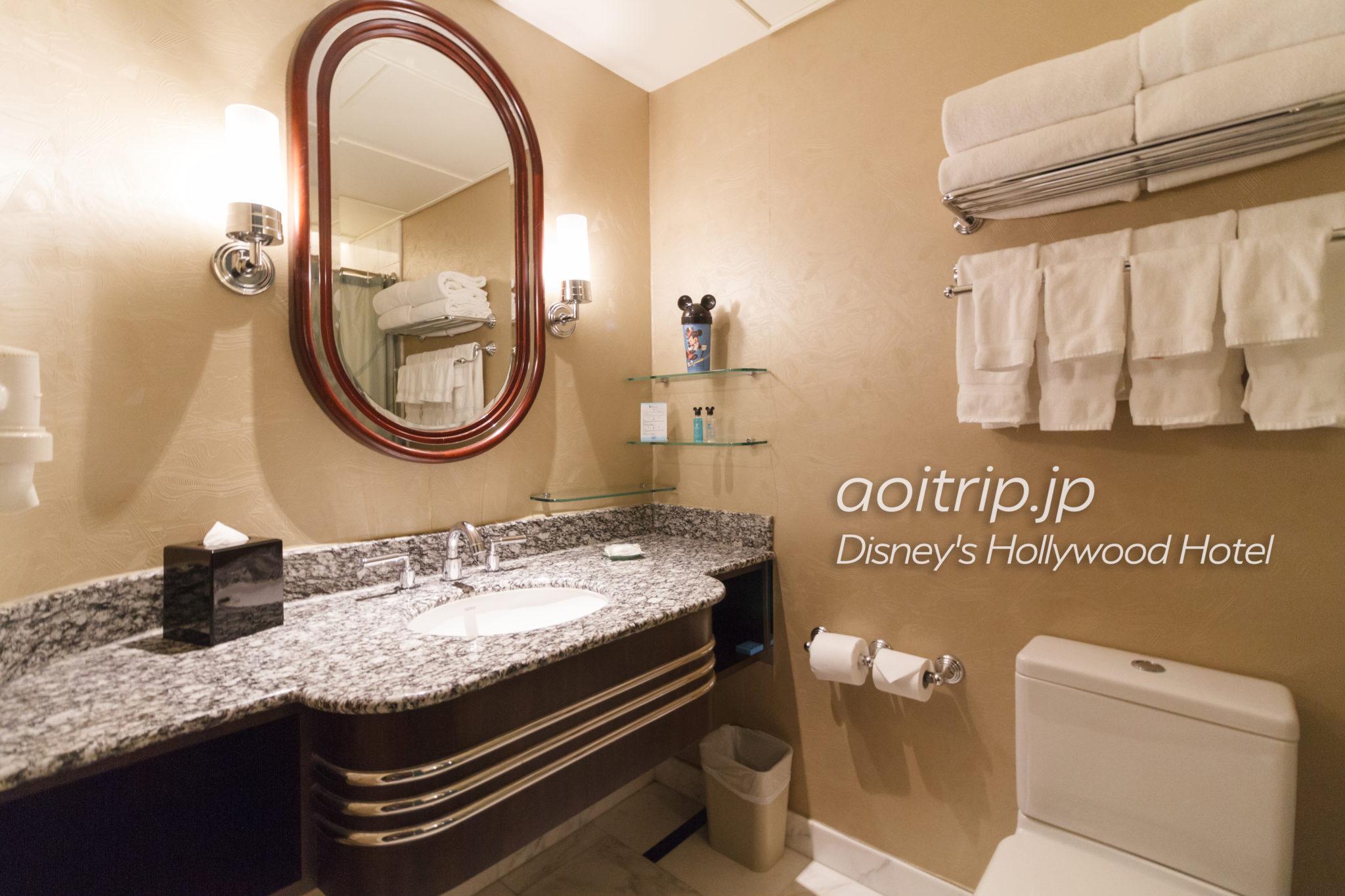 ディズニーハリウッドホテルのバスルーム