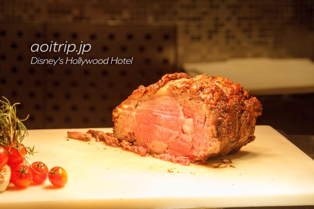 ディズニーハリウッドホテルのシェフミッキー・ビュッフェのローストビーフ