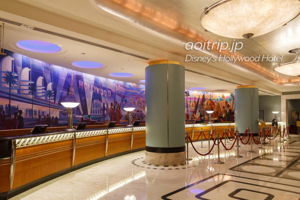 ディズニーハリウッドホテルのレセプション