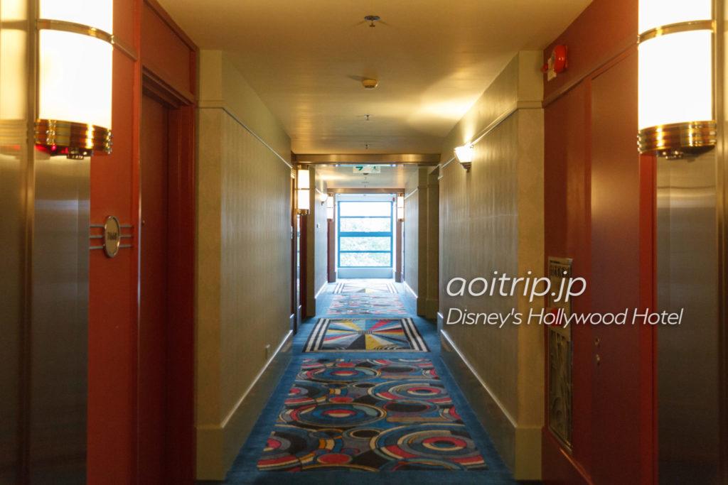ディズニーハリウッドホテルの内廊下