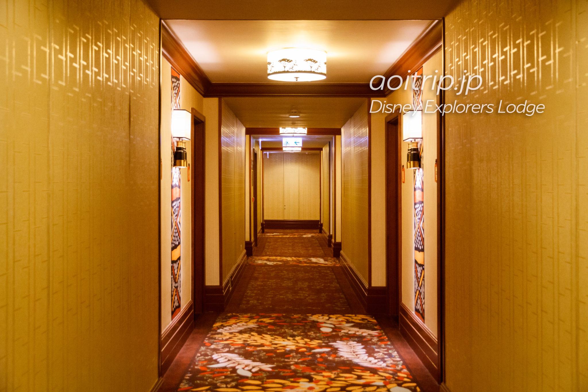 ディズニーエクスプローラーズロッジの内廊下