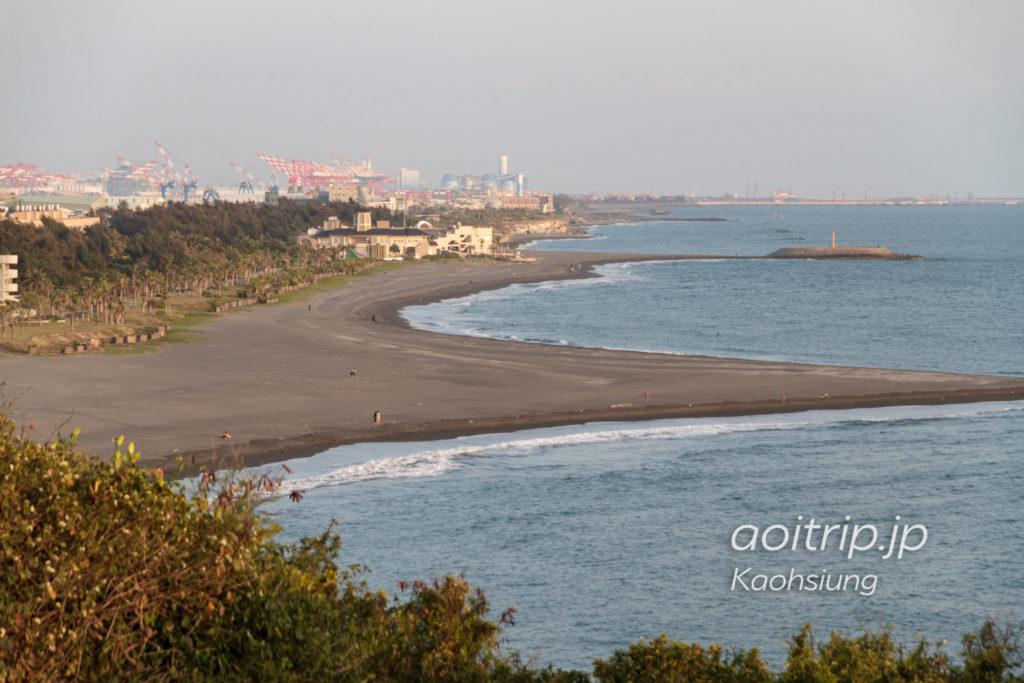 旗後砲台から旗津海水浴場方面の眺望