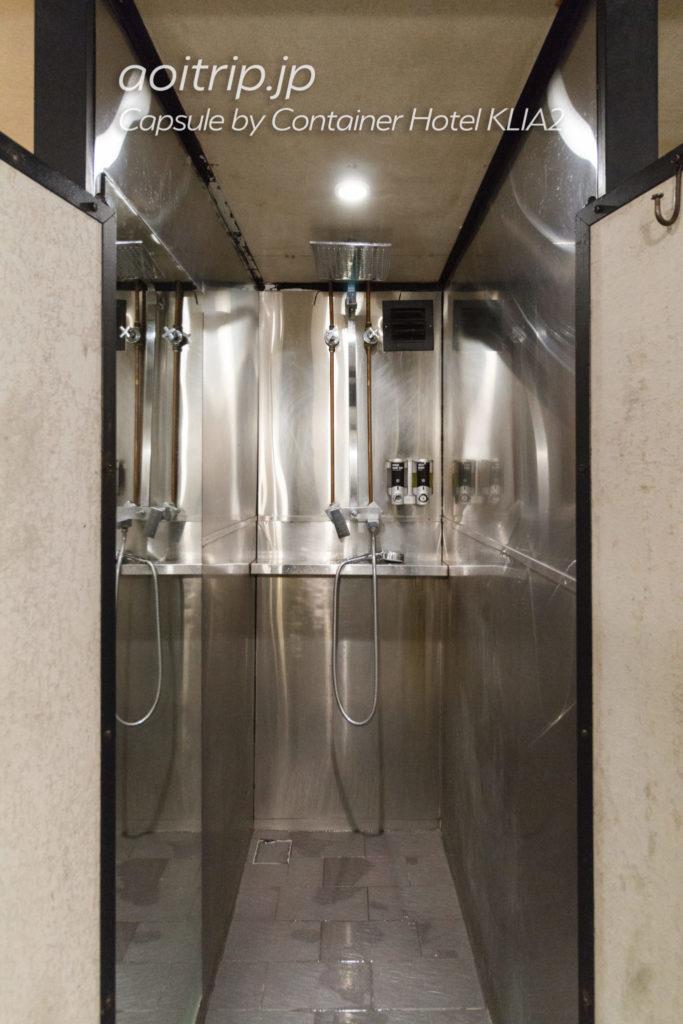 カプセルバイコンテナホテルKLIA2のシャワールーム