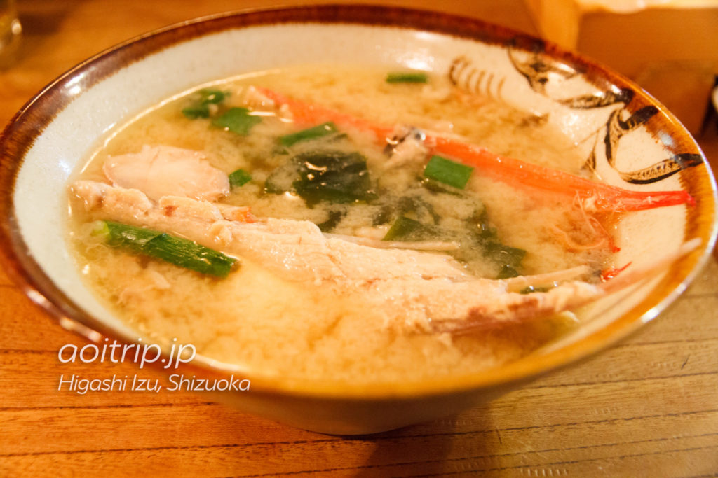 魚八寿しの金目汁