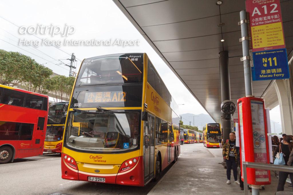 香港空港のエアポートバスA12線