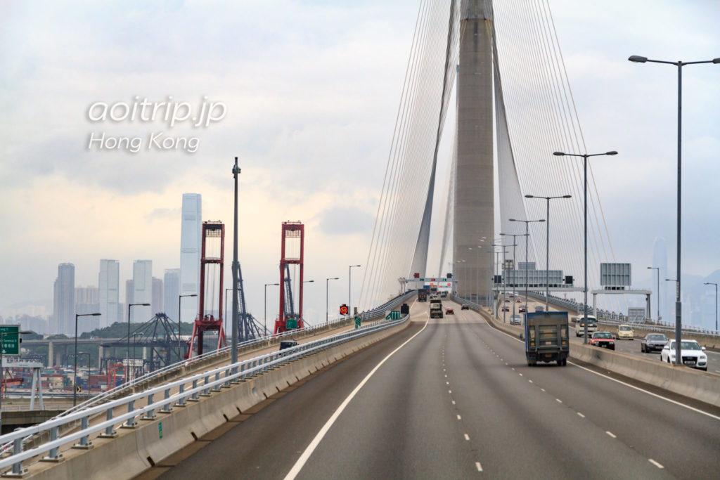 香港のストーンカッターズ橋(昂船洲大橋)
