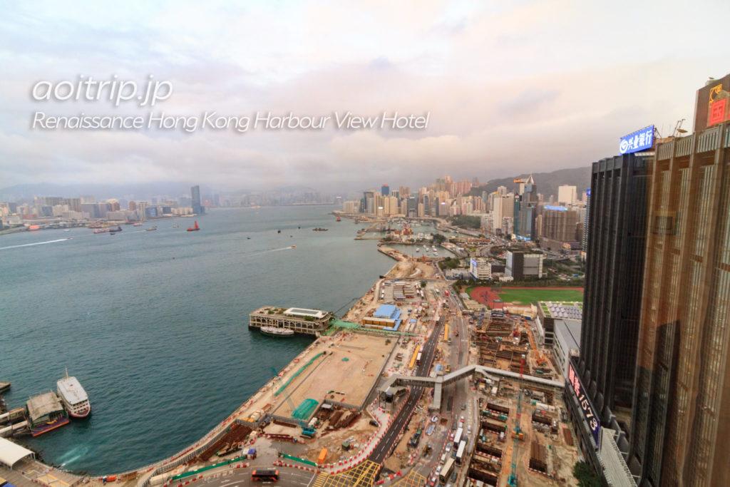ルネッサンス香港ハーバービューホテルのハーバービュールームの眺望