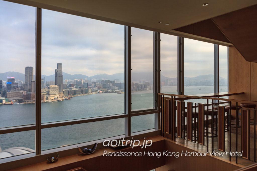 ルネッサンス香港ハーバービューホテルのクラブラウンジの眺望