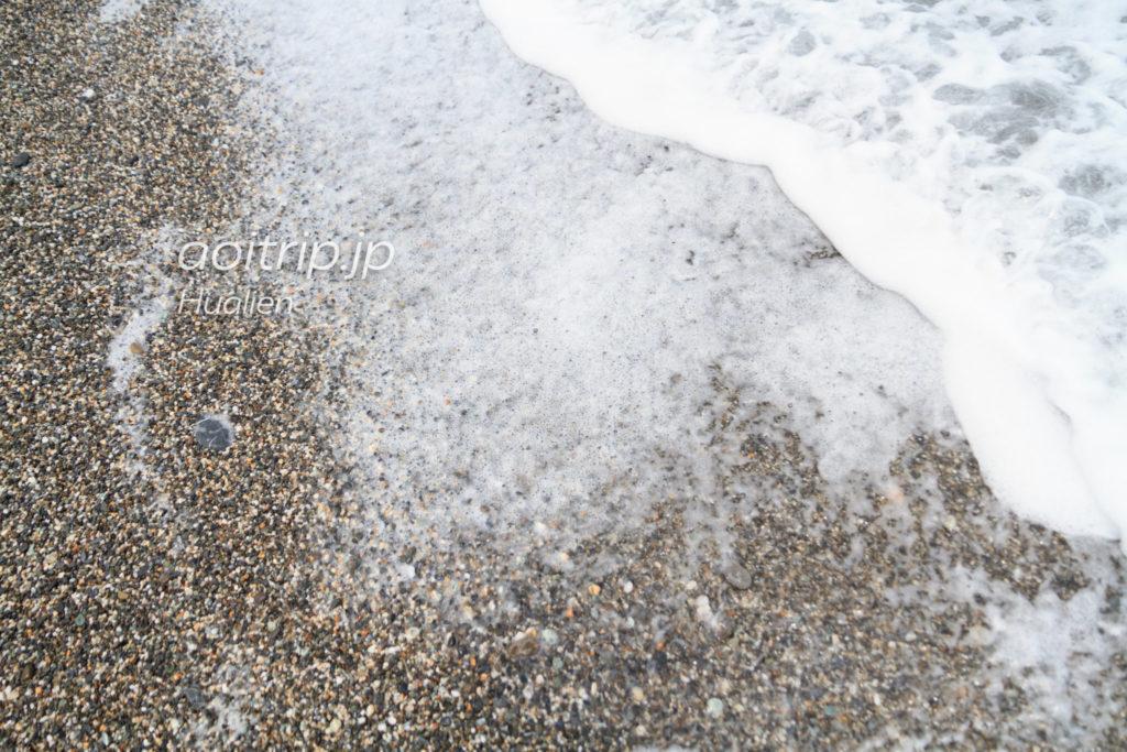 花蓮 七星潭の砂浜