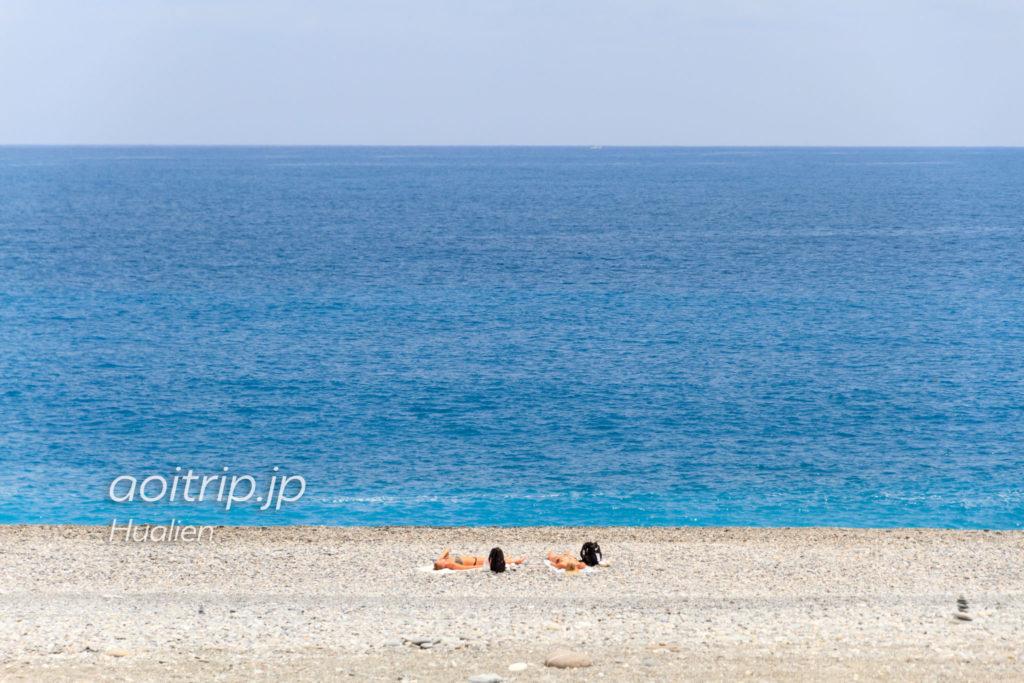 七星潭のビーチ