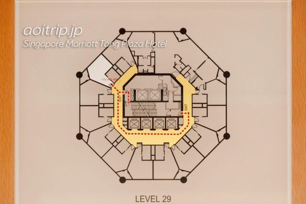 シンガポール マリオット タング プラザ ホテルのフロアマップ