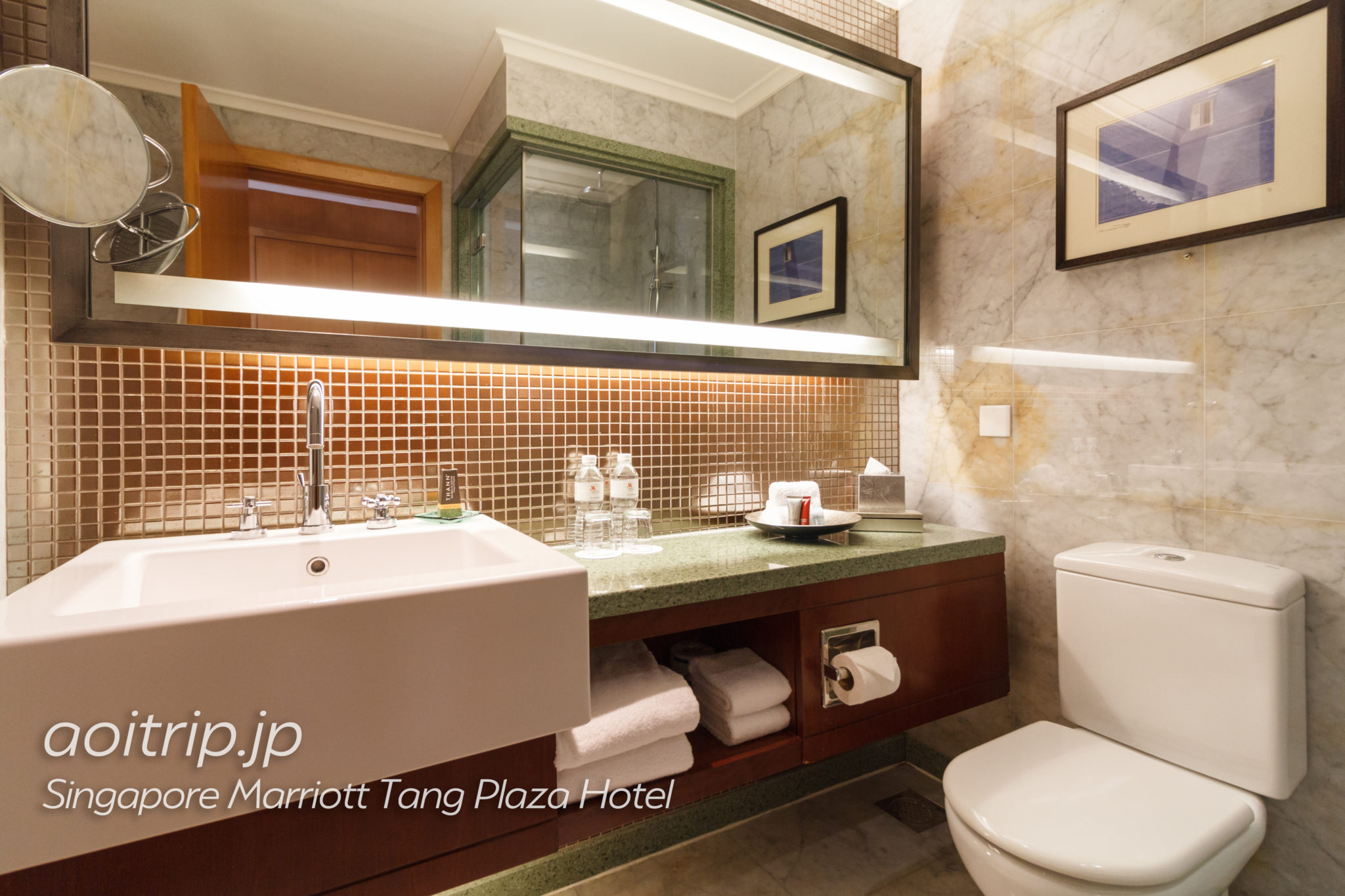 シンガポール マリオット タング プラザ ホテルのバスルーム