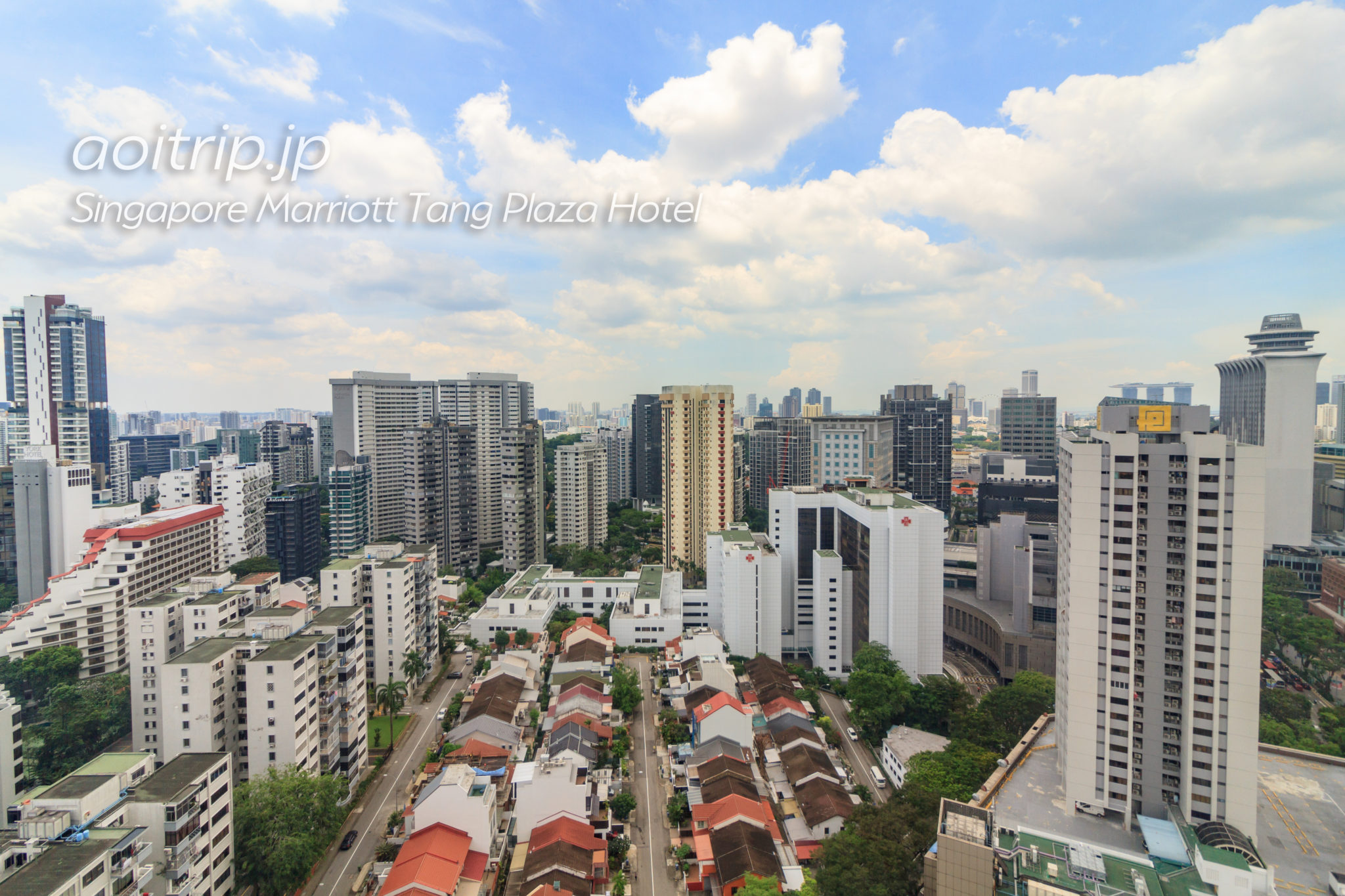 シンガポール マリオット タング プラザ ホテルの29Fからの眺望