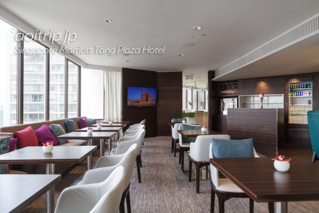 シンガポール マリオット タング プラザ ホテルのクラブラウンジ