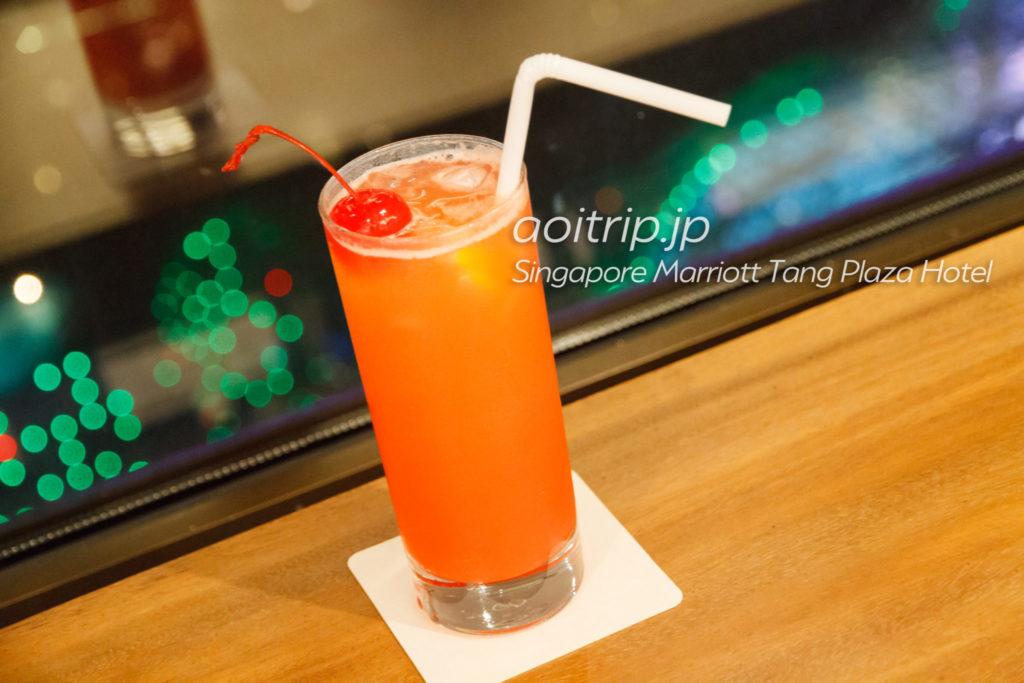 シンガポール マリオット タング プラザ ホテル ラウンジのシンガポールスリング
