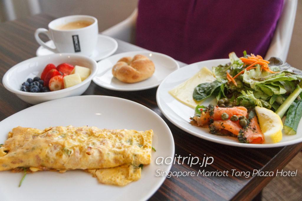 シンガポール マリオット タング プラザ ホテル ラウンジの朝食
