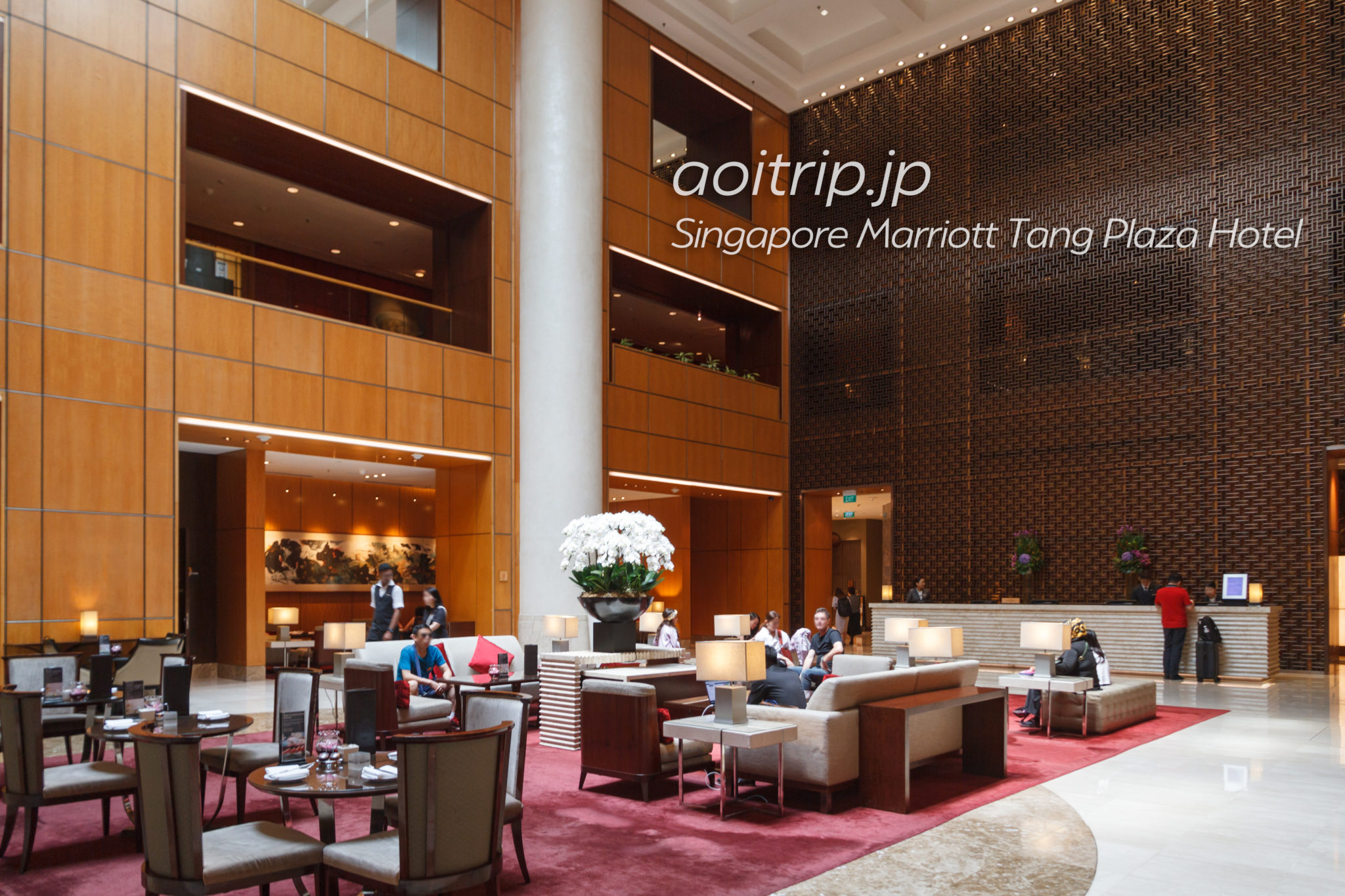 シンガポール マリオット タング プラザ ホテルのホテルロビー