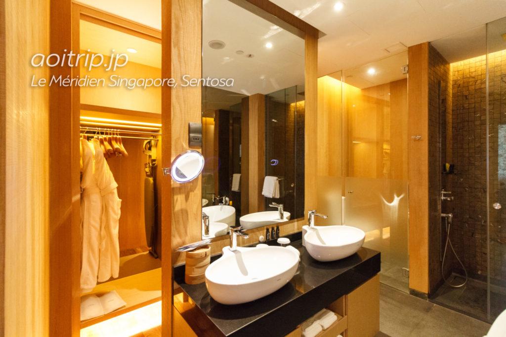 ル メリディアン シンガポール セントーサの洗面室