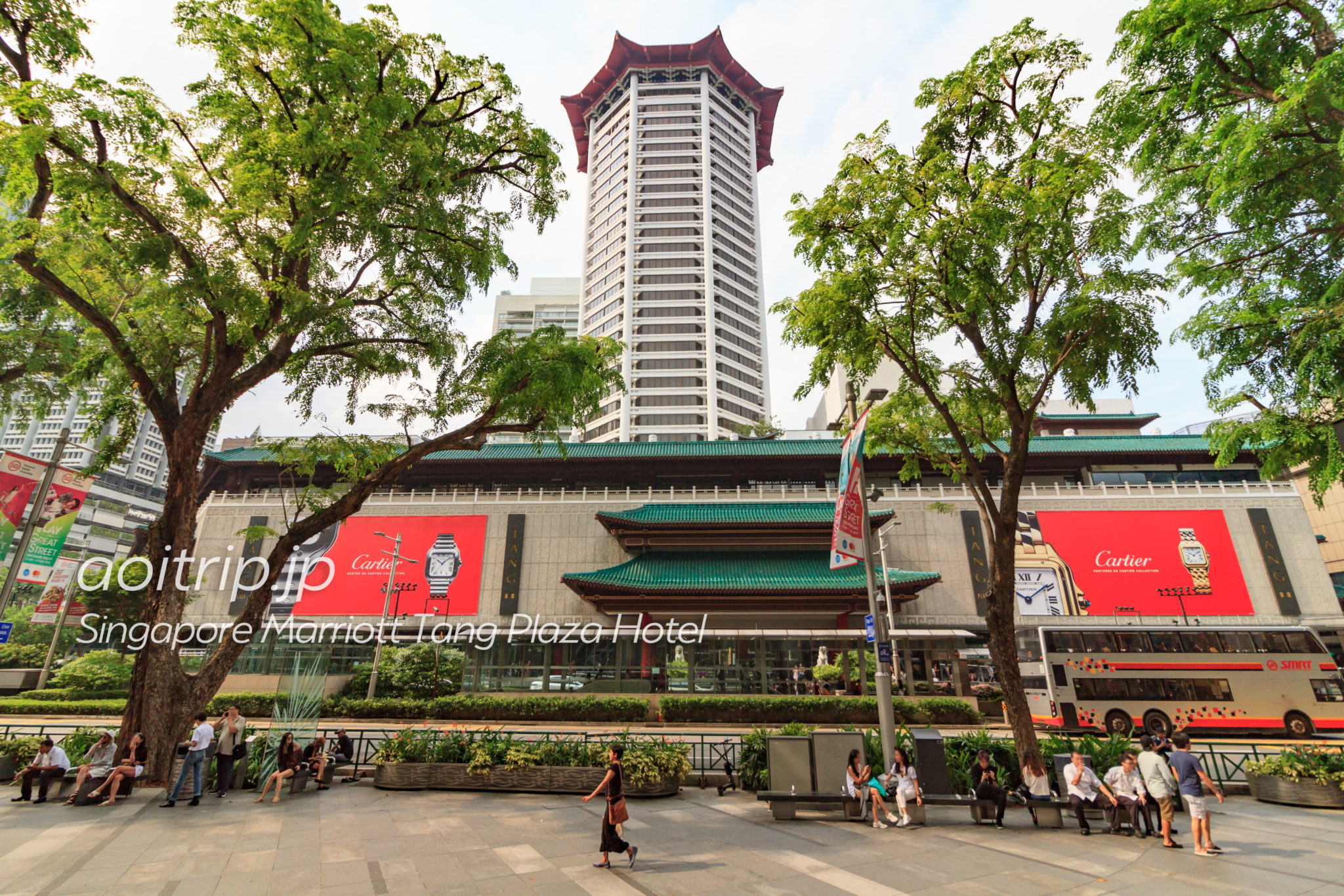 シンガポール マリオット タング プラザ ホテルの外観