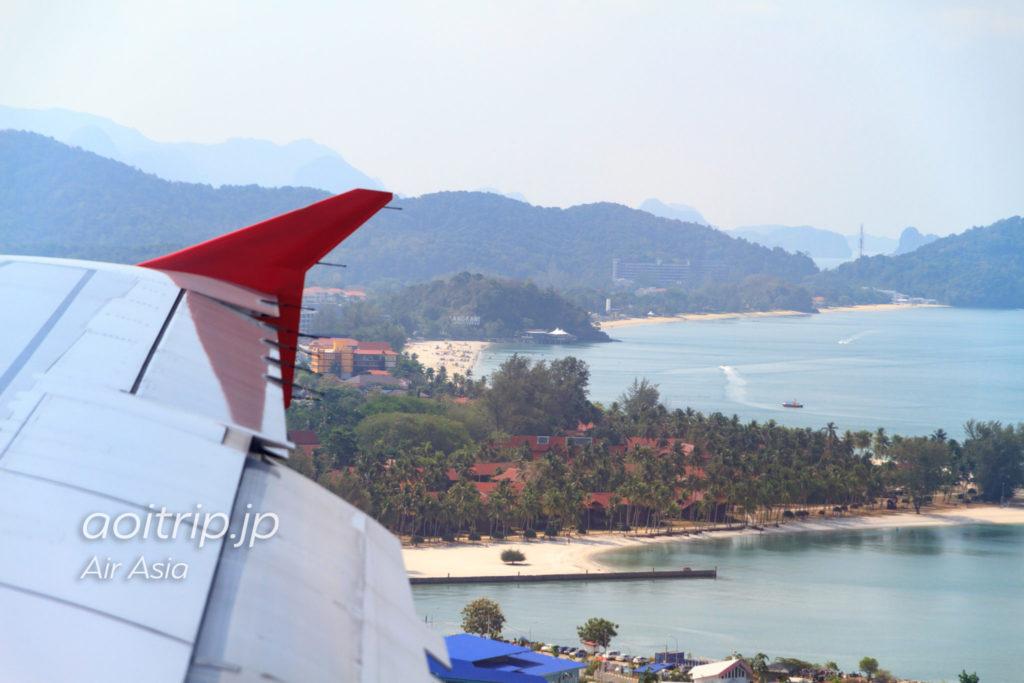 エアアジア機内からCenang Beachを望む