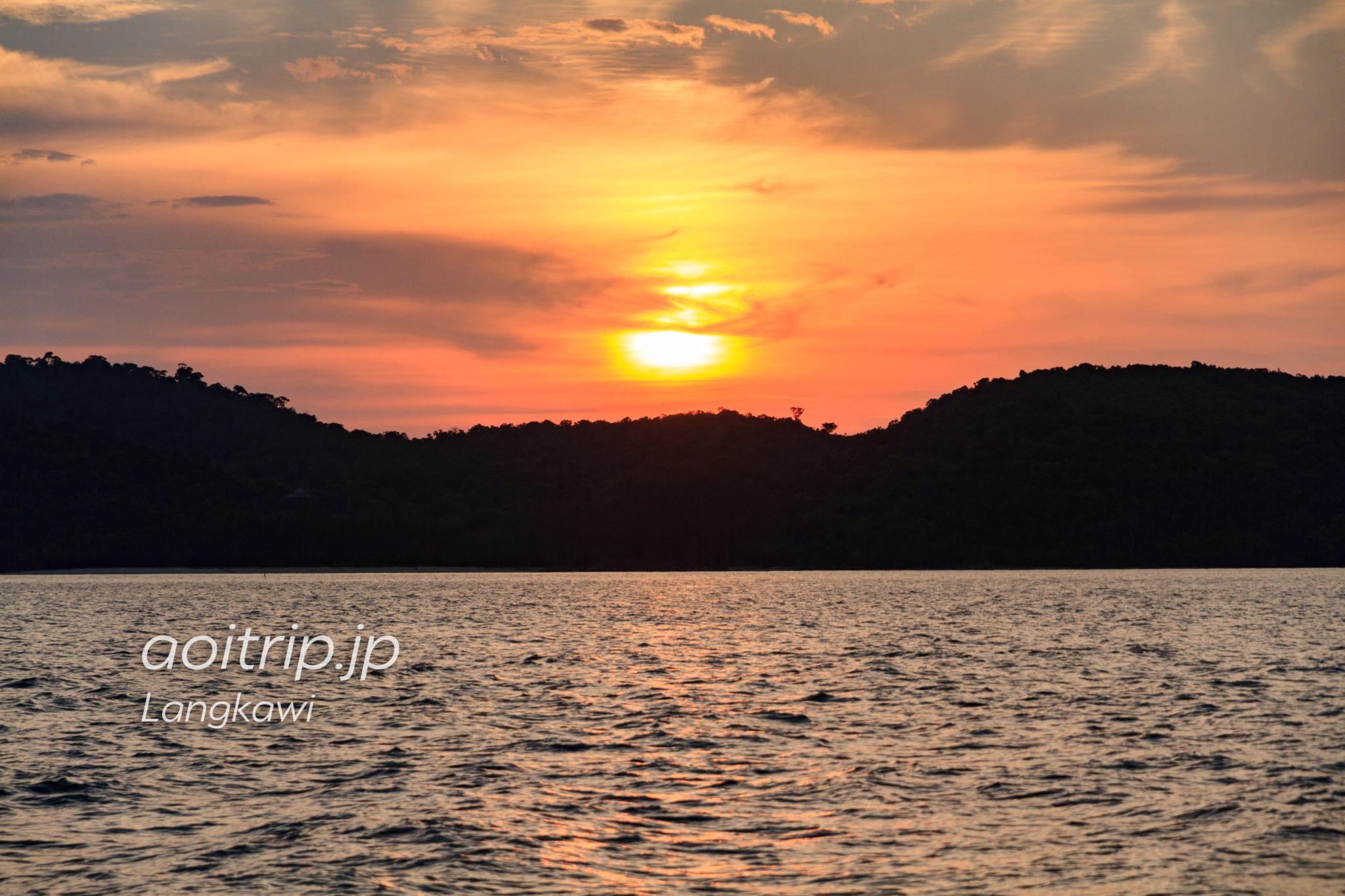 ランカウイ島の夕日