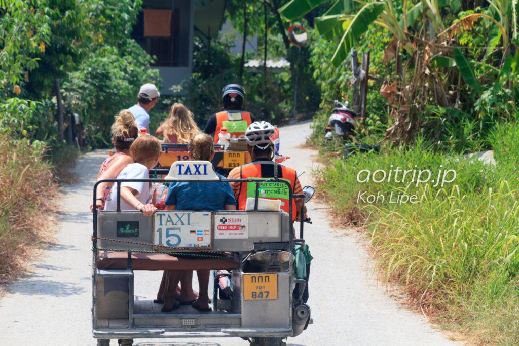 リペ島のバイクタクシー