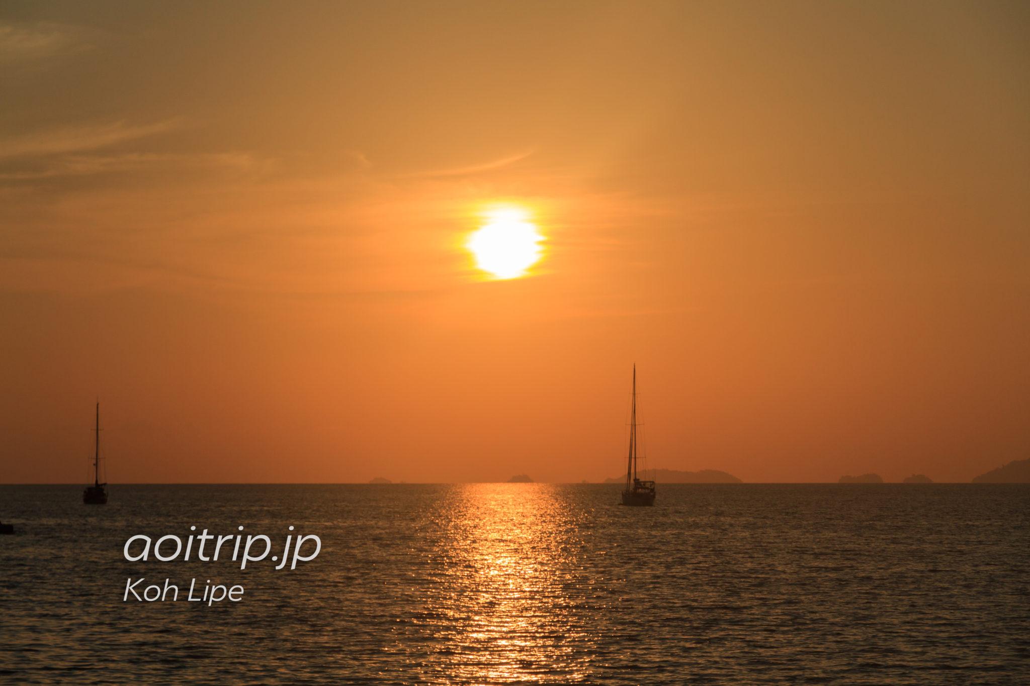リペ島のサンセットビーチ