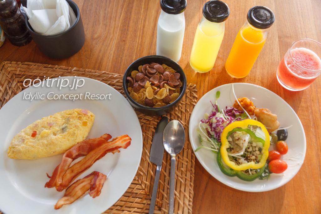 リペ島・アイディリックコンセプトリゾートの朝食