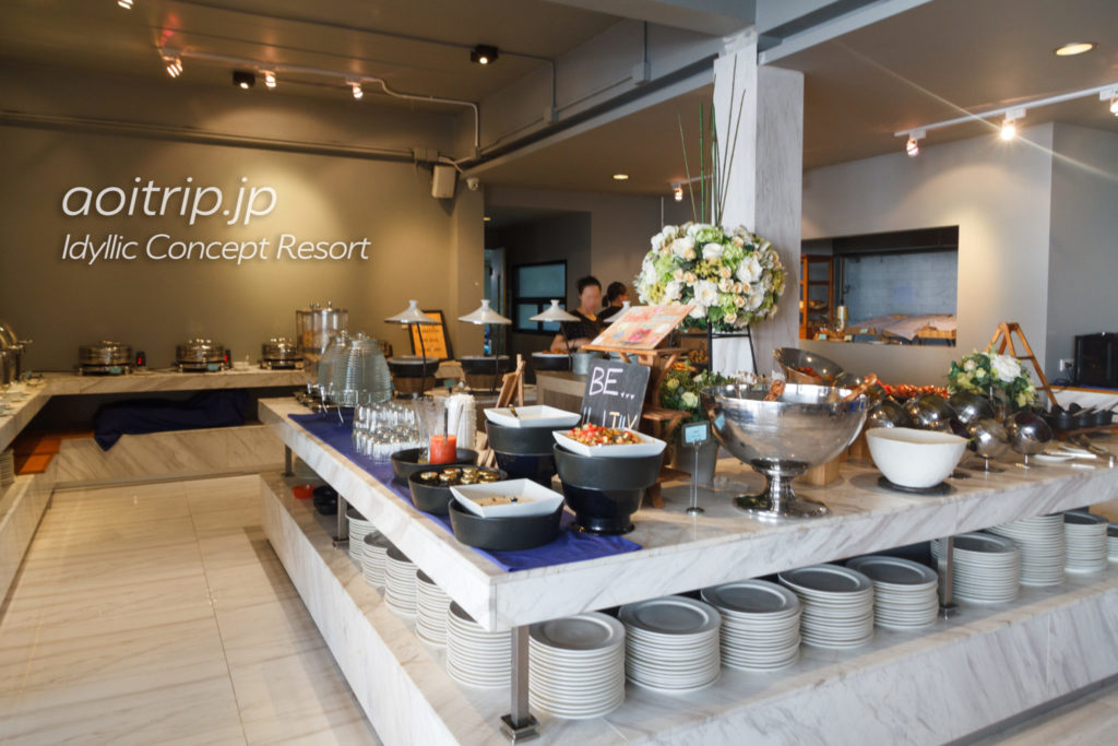 アイディリックコンセプトリゾートの朝食ビュッフェ