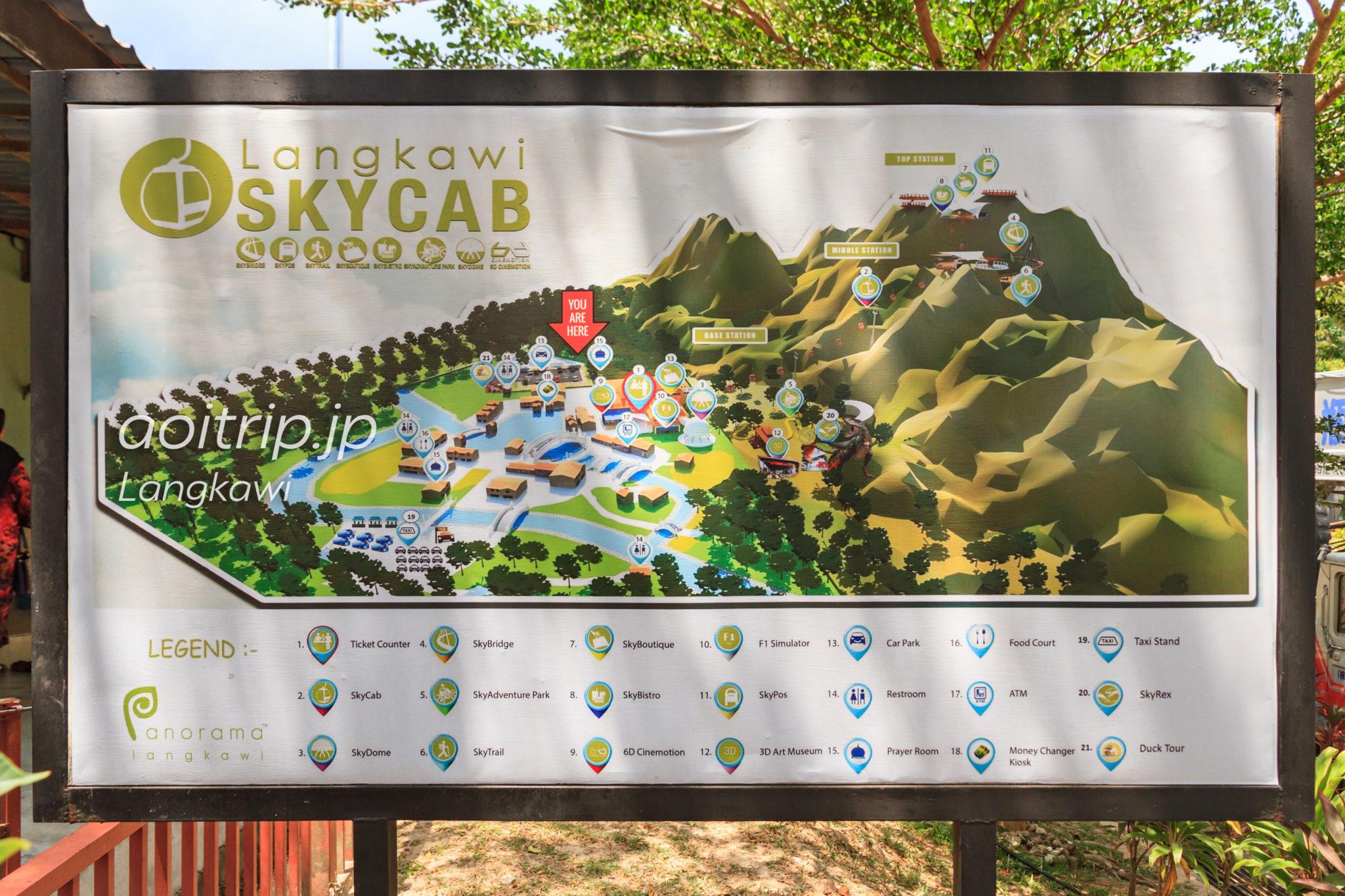 ランカウイ島SkyCabのマップ