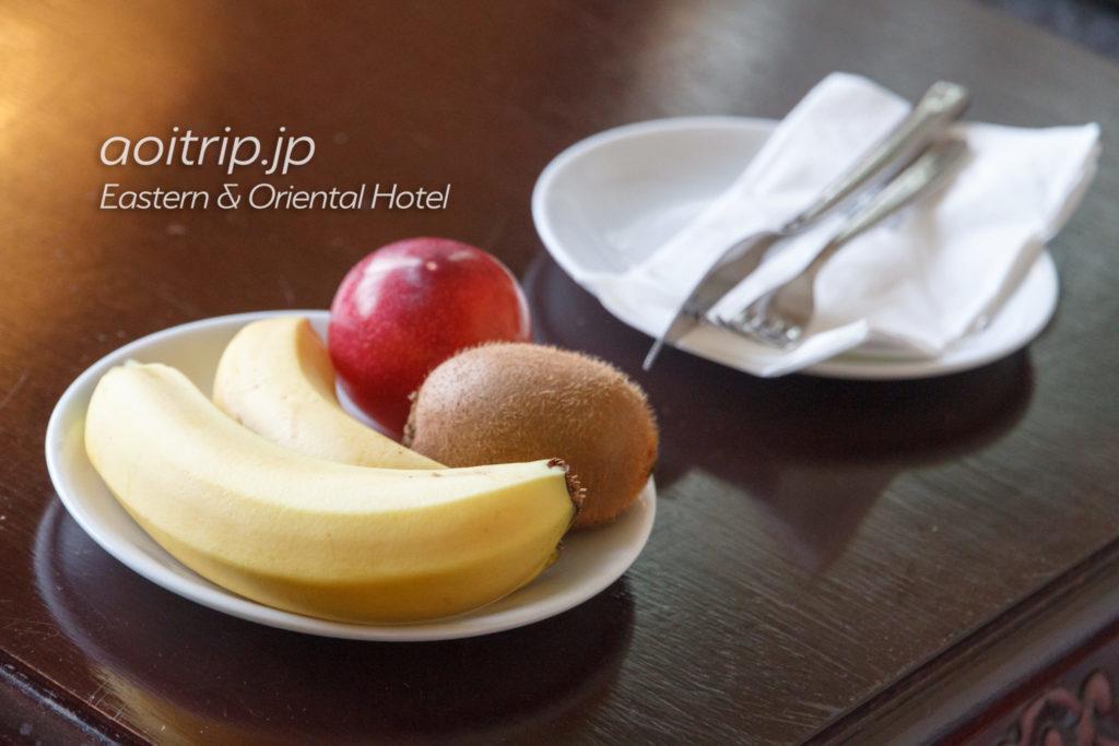 イースタンオリエンタルホテルのウェルカムフルーツ