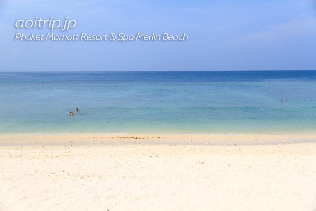 プーケット マリオット リゾート & スパ メルリン ビーチの砂浜(ビーチ)