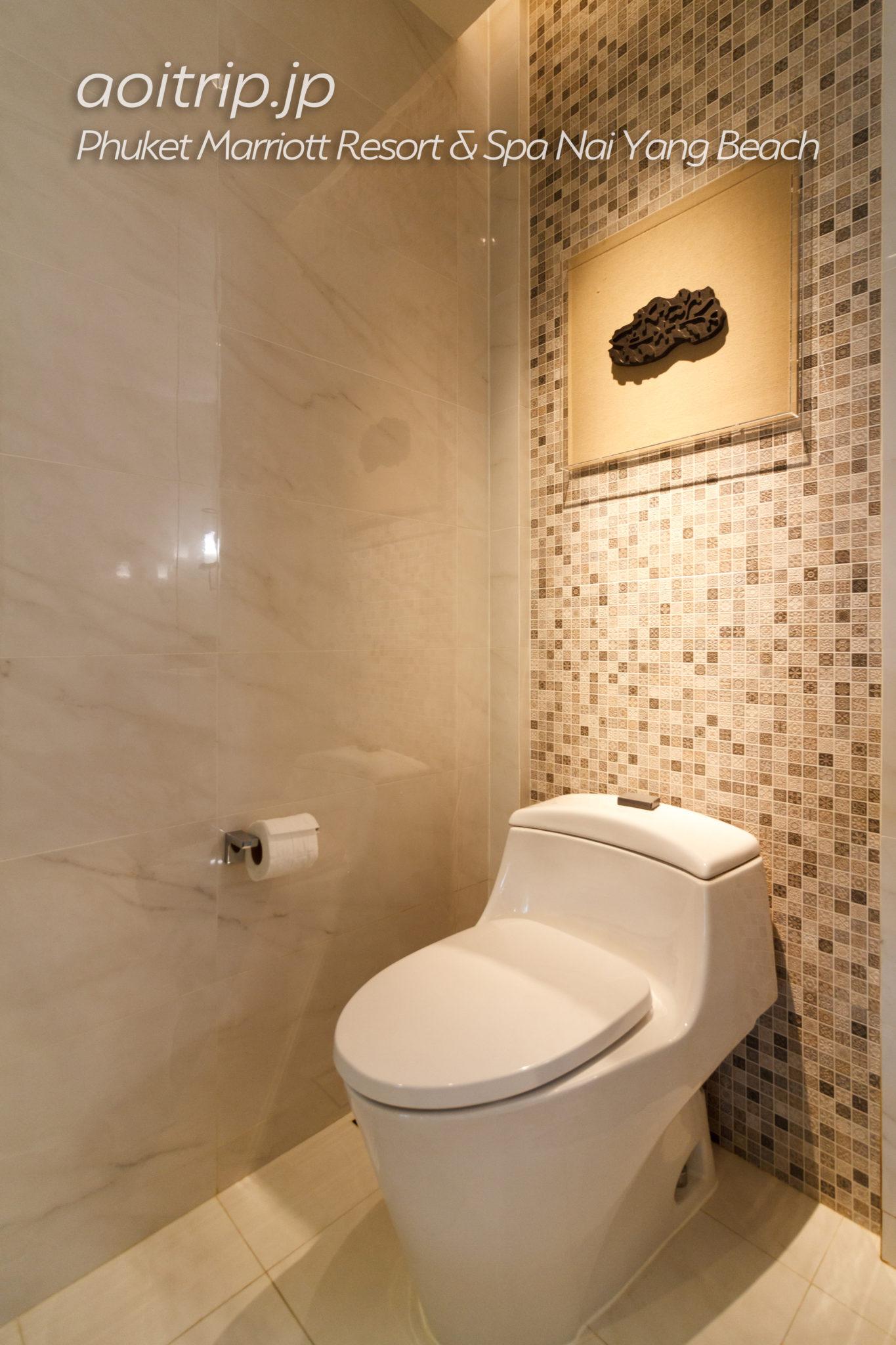 プーケット マリオット リゾート & スパ ナイヤン ビーチのトイレ