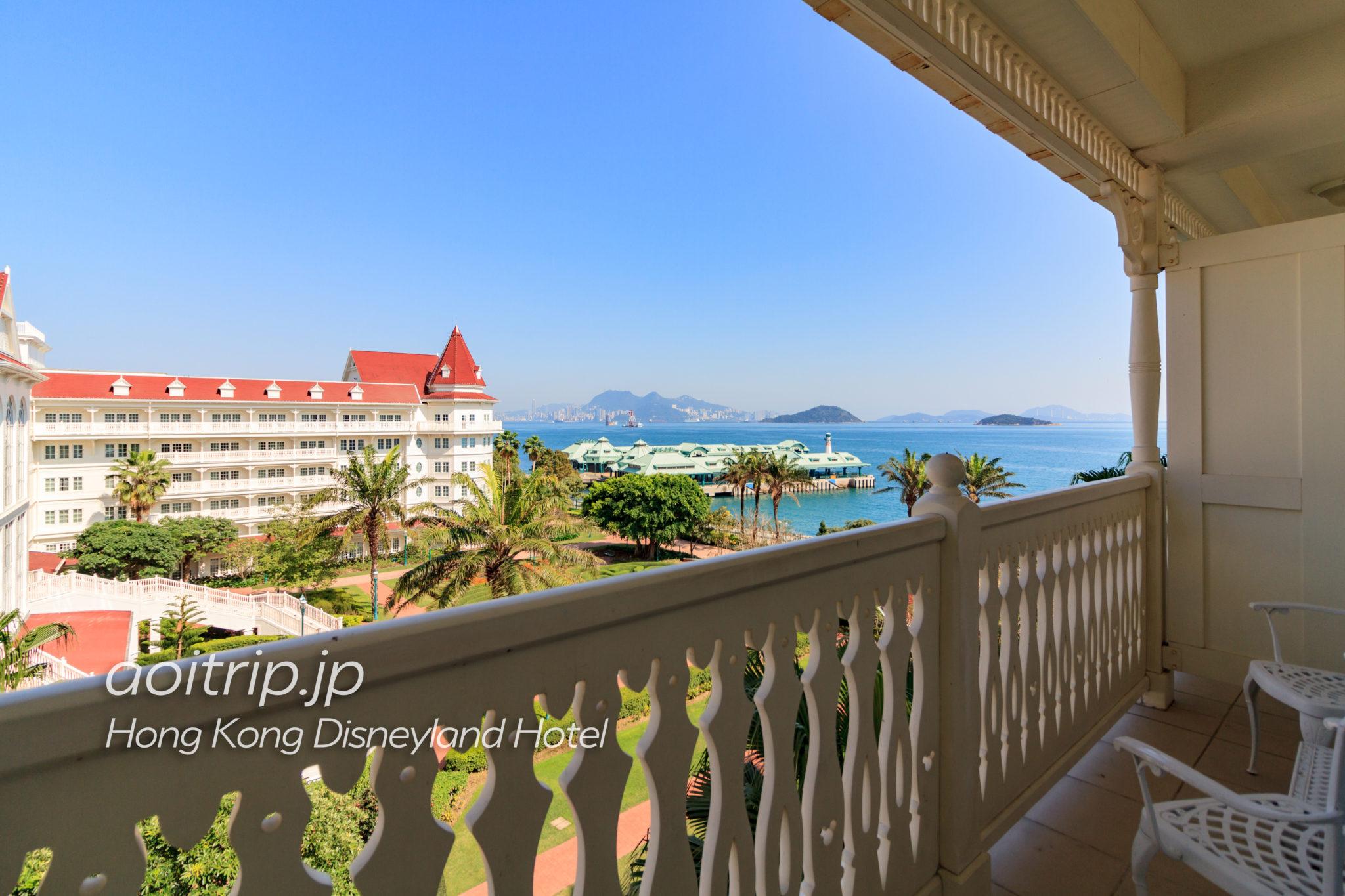 香港ディズニーランドホテル キングダムクラブルームのバルコニーの眺望