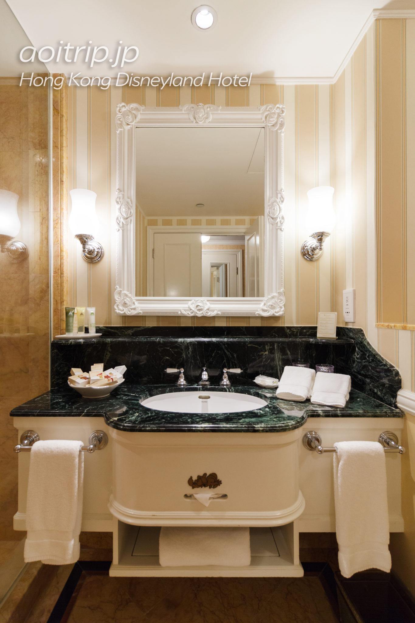 香港ディズニーランドホテルのバスルーム