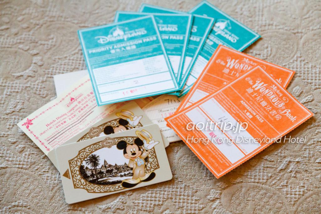 香港ディズニーランドホテルのカードキー
