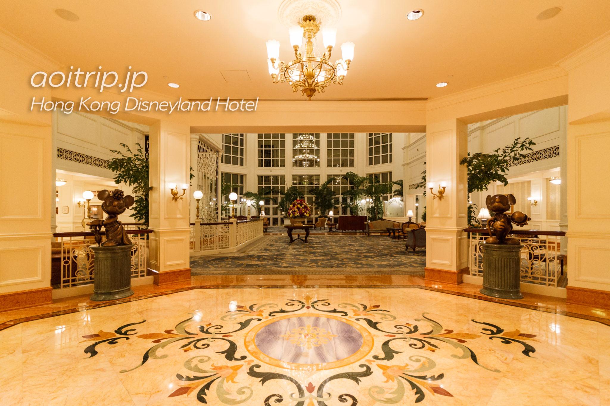 香港ディズニーランドホテルのロビー