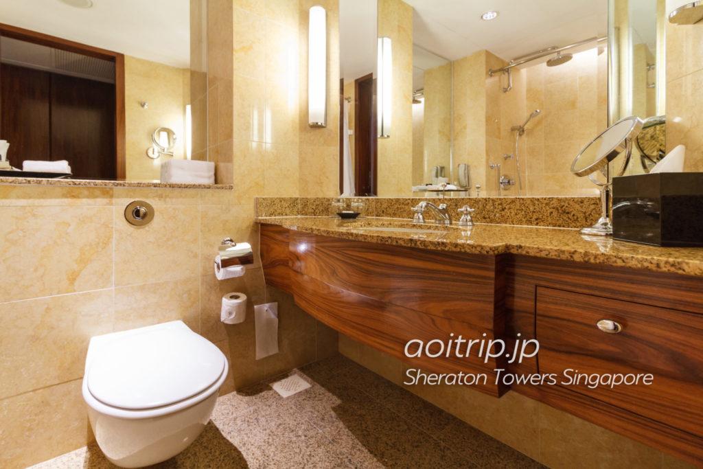 シェラトンタワーズシンガポールのバスルーム