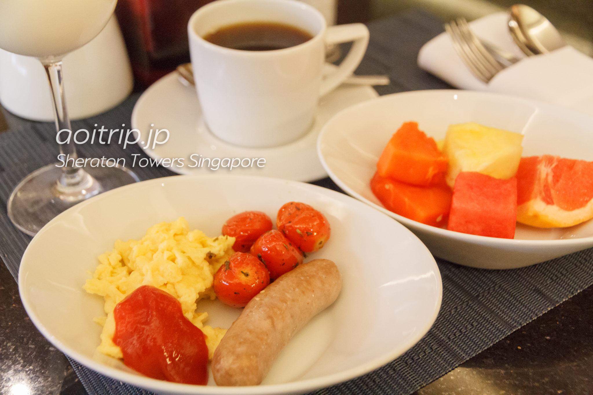 シェラトンタワーズシンガポール ラウンジの朝食
