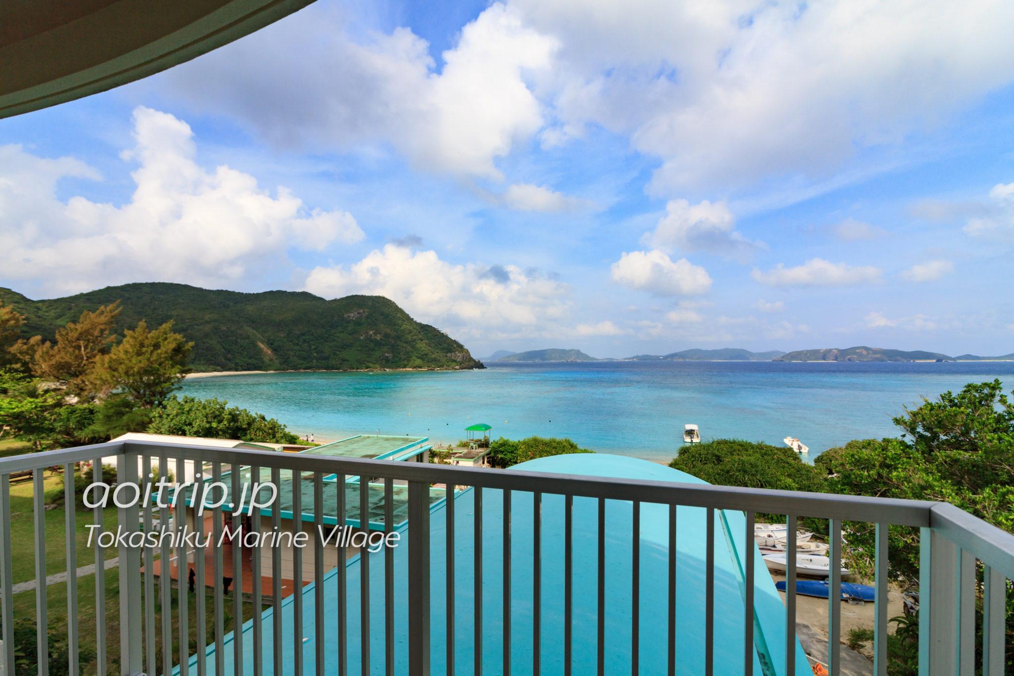 慶良間諸島とかしくマリンビレッジの客室からの眺望