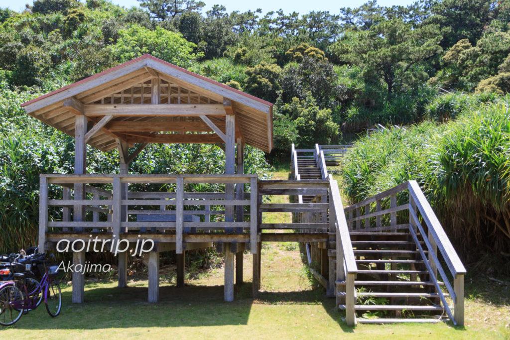 阿嘉島の北浜展望台の入り口