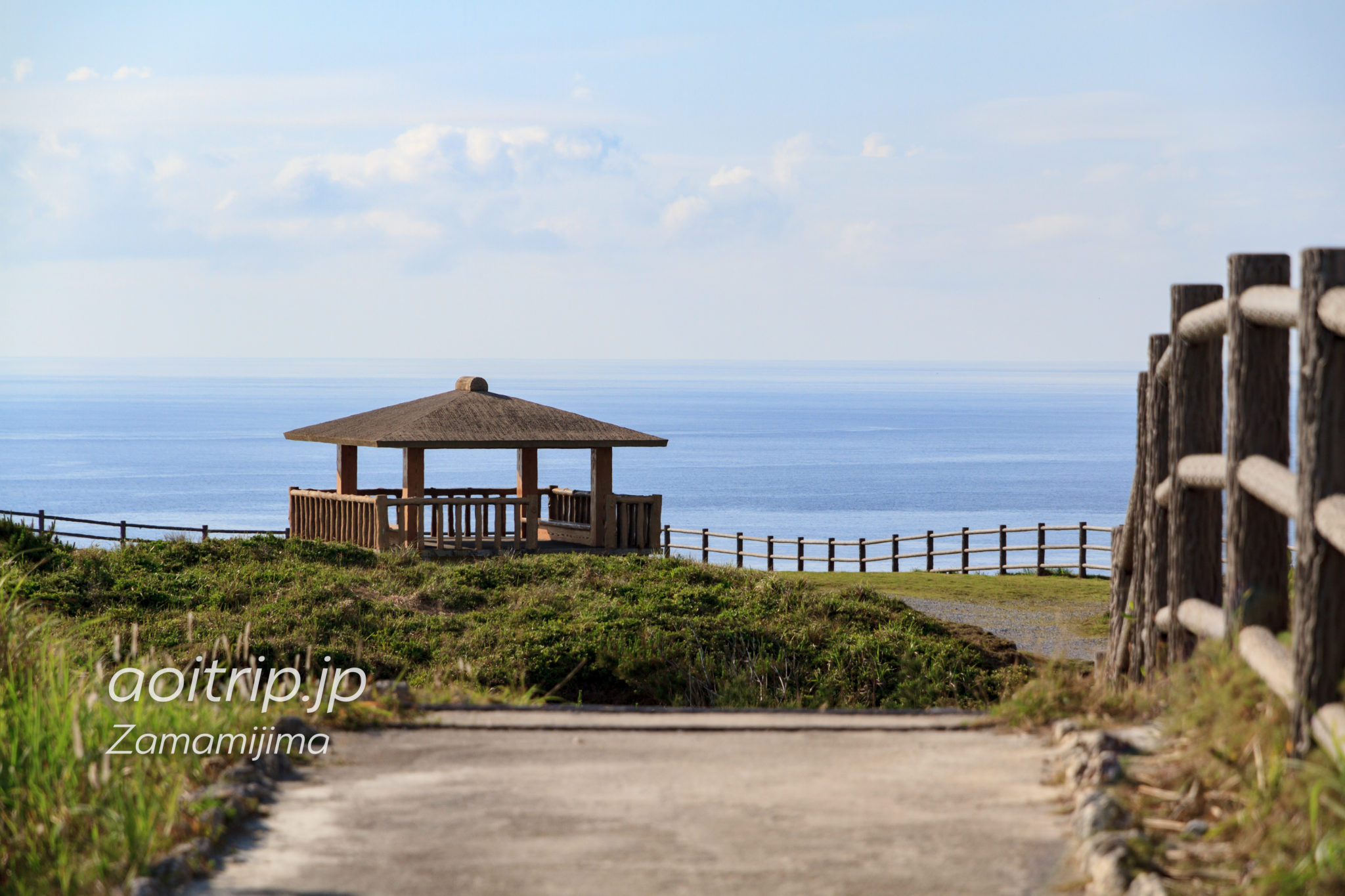 座間味島のウナジノサチ展望台