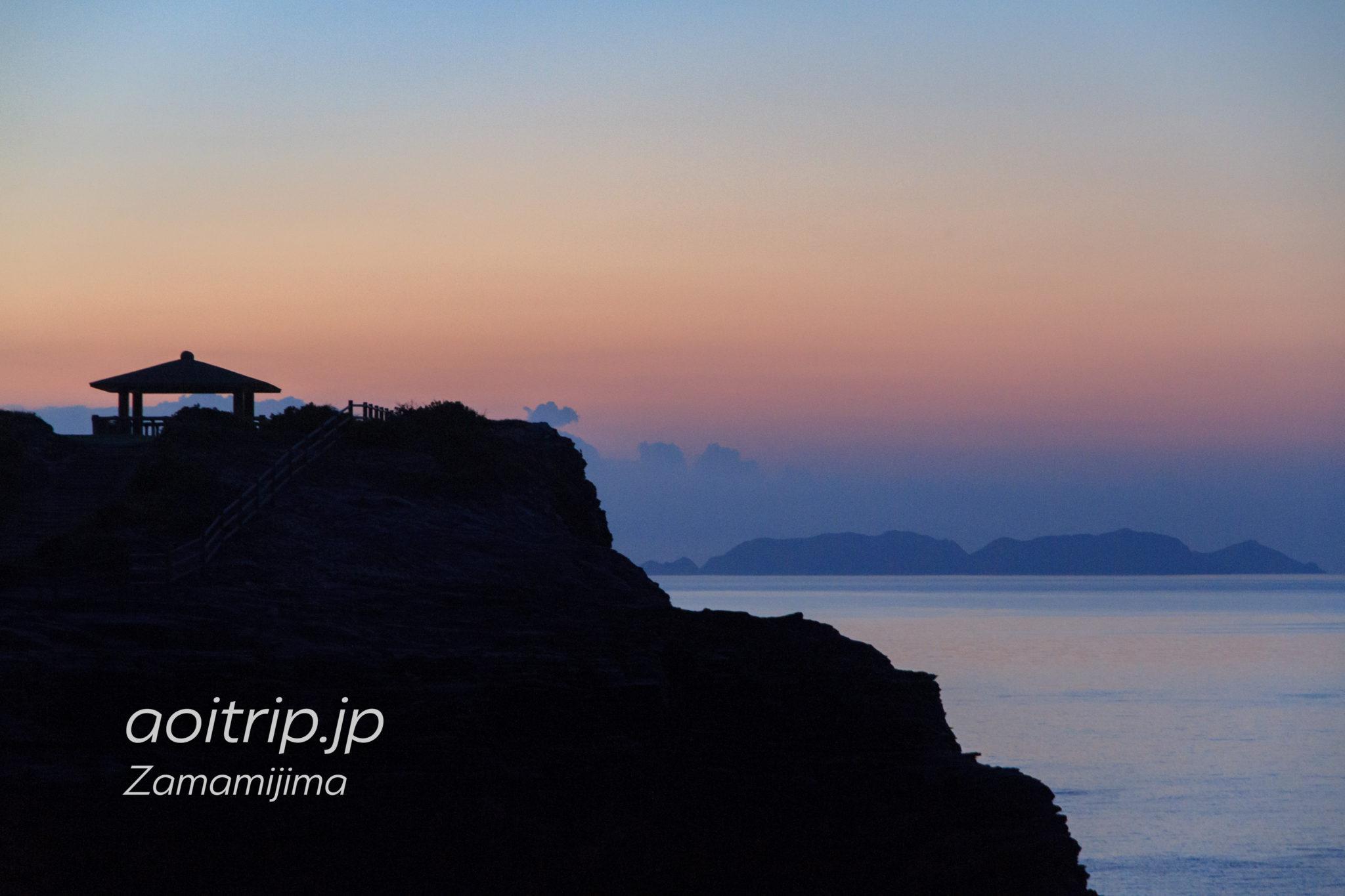 ウナジノサチ展望台と渡名喜島